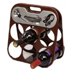 Steel Table Top Wine Holder