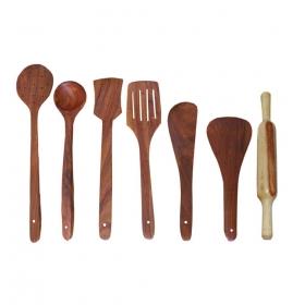 Desi Karigar Wooden Cutlery Set Of 7