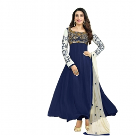 Royal Blue Color Designer Embroidery Suit