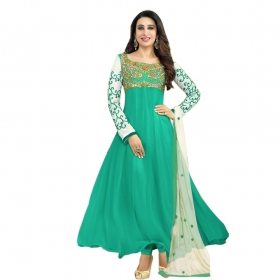 Light Green Color Designer Embroidery Suit