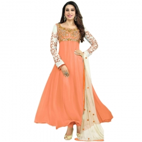 Light Orange Color Designer Embroidery Suit