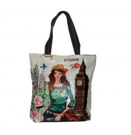 BagHubs Printed Beby London Tote Bag ( Multi )