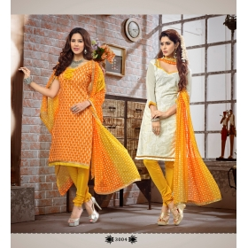 D No  &8211, 3004 &8211, Double Top Daily / Office Wear Unstitched Salwar Suit