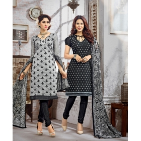 D No  &8211; 3011 &8211; Double Top Daily / Office Wear Unstitched Salwar Suit
