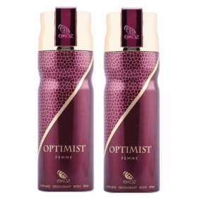 Ekoz Optimist Deo For Women 200 Ml- Pack Of 2
