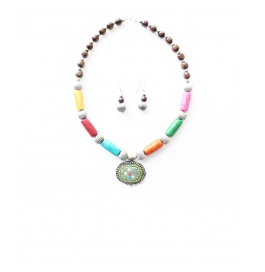 Loveesa Inder Dhanush Multicolor Neeklace Accessories