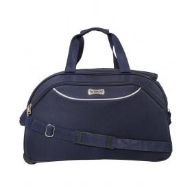 Emblem Blue Solid Duffle Bag