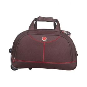 Emblem Brown Solid Duffle Bag