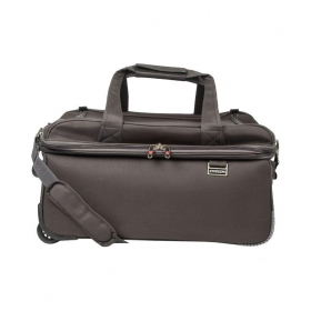 Emblem Light Grey Solid Duffle Bag