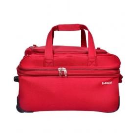 Emblem Maroon Solid Duffle Bag