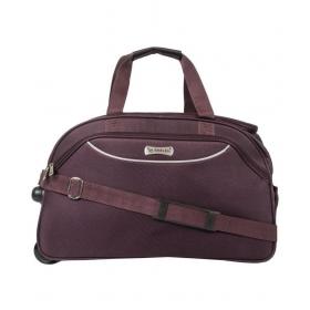 Emblem Purple Solid Duffle Bag