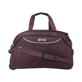 Emblem Purple Solid Duffle Bag