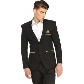 Solid Single Breasted Casual Men's Blazer
