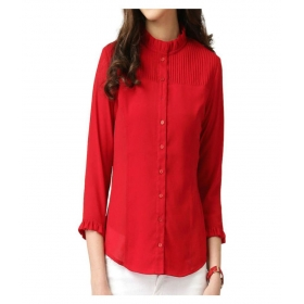 Stylish Georgette Red Shirt For Women