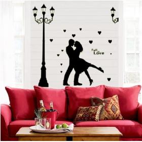Abq9626 Dancing Love Couple Modern Wall Sticker  Jaamso Royals