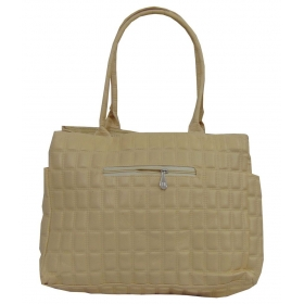 Estoss Beige Faux Leather Shoulder Bag