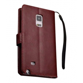 Excelsior Premium Leather Wallet Flip Cover For Samsung Galaxy Note Edge - Brown