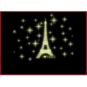 Y0034 Aiffel Tower  Radium/glow In The Dark  Wall Sticker  Jaamso Royals
