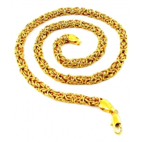 Men & Boy Vintage Designed Link Gold Tone Chain