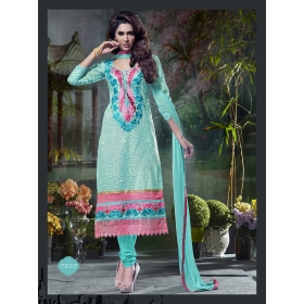 Designer Nazneen Unstitched Salwar Suit : Design No. 7007