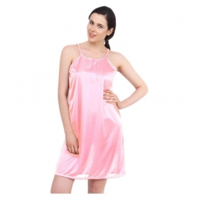 Satin Nighty & Night Gowns-pink