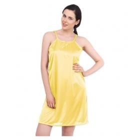 Satin Nighty & Night Gowns - Yellow