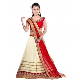 Baby Girl's Semistiched Embroidery Lehenga Choli For 8-12 Years (baby_girls 8-12 Yrs)