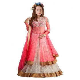 Girl's Semistiched Embroidery Lehenga Choli