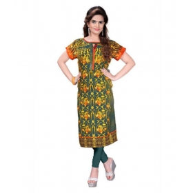Multicoloured Woollen Straight Kurti