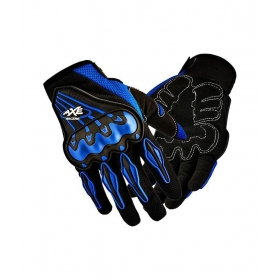 Favourite Bikerz Blue Axe Gloves