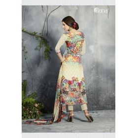 D No &8211; 1054 &8211; Premium Digital Printed Georgette Unstitched Salwar Suit By Fiona Mahezabeen