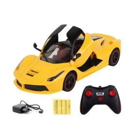 Rc Ferrari Style Rechargeable Car 1:16 With Opening Doors - Yellow