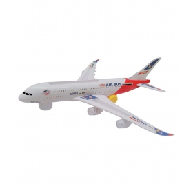 A380 Airplane Toy With Colorful Lights Effect & Self Rotating - Multicolor