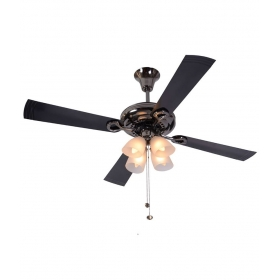 Usha 1230 Mm Fontana Lotus Ceiling Fan Black Chrome