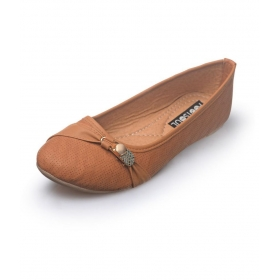 Tan Ballerinas