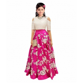 Multicolour Silk Semi Stitched Comfortable Lehenga Choli Set