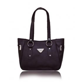 Brown Faux Leather Shoulder Bag