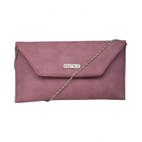 Gray Faux Leather Box Clutch