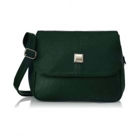 Green P.u. Sling Bag