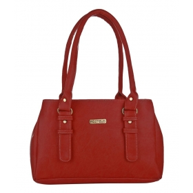 Red P.u. Shoulder Bags