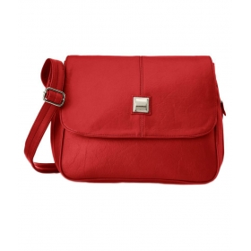 Red Synthetic Sling Bag