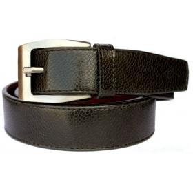 Men Black Artificial Leather Belt