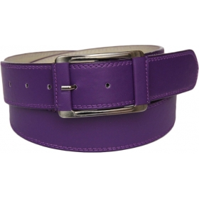 Men Purple Artificial Leather Belt