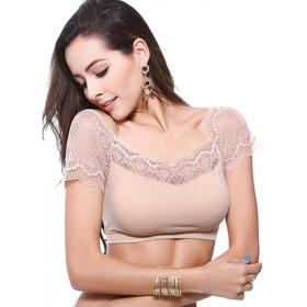 Kavjay Women's Bralette Beige Bra