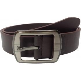 Men Casual Brown Genuine Leather Belt