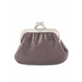 Ft Leather Brown Colour Coin Purse With 6 Cm Frame For Women