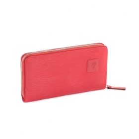 Leather Red Wallet For Women