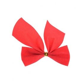 12 Bowknot For Bell Christmas Tree Ornament - Red