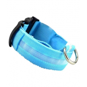 Pet Led Collar Night Safety Blue-small Collar