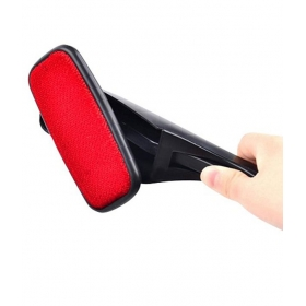 Red & Black Magic Lint Fluff Dust Brush Pet Hair Remover Cleaning Swivel